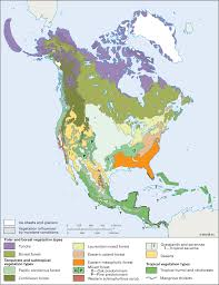 North America Maps by North America Vegetation Zones Students Britannica Kids