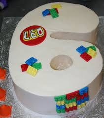 6 shaped cake with lego cake topper jpg