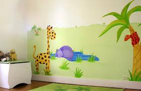 chambre jungle bébé aménagement déco chambre bébé garçon jungle