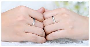fingerprint wedding bands fingerprint engraved puzzle wedding bands set for women and men