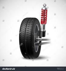 car suspension car suspension realistic icon wheel tire stock vector 308971310