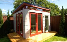 Prefab Backyard Cottage Stylish Design Prefab Office Shed Entracing Backyard Offices