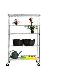 5 Shelf Wire Shelving Amazon Com Trinity 5 Tier Nsf Outdoor Rack 48 By 18 By 72 Inch