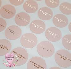 wedding favor labels gold wedding stickers foil wedding stickers blush