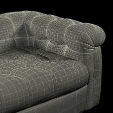 tufted leather sofa edward wormley dunbar six foot tufted leather sofa 3d model max