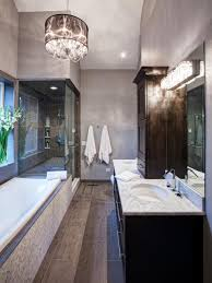Bathroom Chandelier Lighting Ideas Black And Gray Bathroom Hypnofitmaui Com