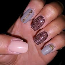 beige brown pink nails cute nail art designs for beginners 55