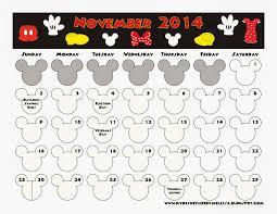 my disney november 2014 calendar
