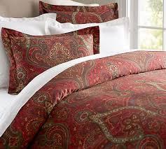 Paisley Comforters Mira Paisley Duvet Cover U0026 Sham Pottery Barn