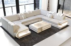 Leather Sectional Sofas San Diego Luxury Sectional Sofa San Antonio U Shape With Led And Usb Port