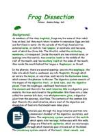 frog dissection lab answer key urinary system atrium heart