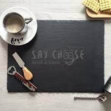 personalized cheese board custom slate cheese board personalized cutting board laser