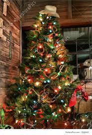 cowboy christmas tree christmas lights decoration