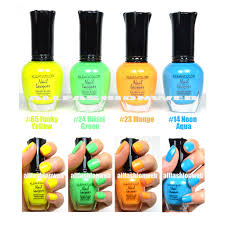 kleancolor 4 nail polish neon funky mango colors lacquer