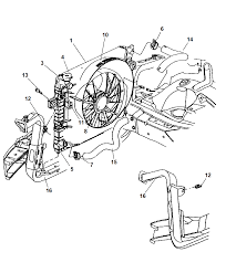 2004 Jeep Grand Cherokee Limited Engine Diagram 52079428ad Genuine Mopar Radiator Engine Cooling