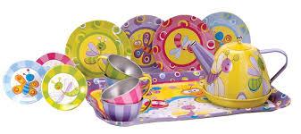 amazon tea amazon com schylling summer bugs tin tea set toys u0026 games