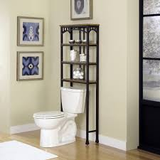 bathroom over the toilet storage ideas shelf height above shelves