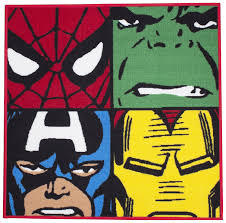 Childrens Bedroom Rugs Uk Character World Disney Marvel Comics Defenders Shaped Rug Amazon