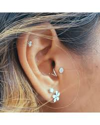 cartilage earrings great deal on curl in tragus earring minimal jewelry coil