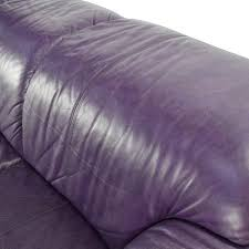 Purple Ottoman by 85 Off Himolla Himolla Purple Leather Sofa With Ottoman Sofas