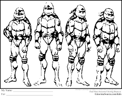 teenage mutant ninja turtles coloring pages ginormasource kids