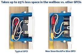 gfci outlet with light switch leviton n7899 w 20 amp 125 volt smartlock pro slim non ter