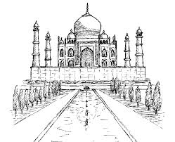 india u0026 bollywood coloring pages for adults coloring taj mahal