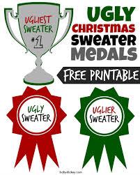 ugly christmas sweater party printables u0026 holiday bark recipe