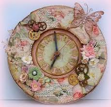 gotta scrapcards gorgeous shabby chic clock vintage beauty