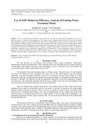 use of ahp method in efficiency analysis of existing water treatment u2026