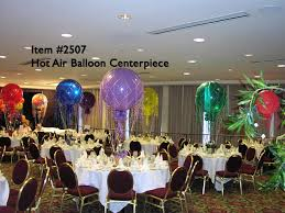 balloon arrangements chicago balloon centerpieces 2507 hot air balloon centerpiece up with