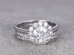 moissanite wedding sets emerald cut moissanite engagement rings wedding sets