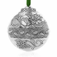 poinsettia classic ornament aluminum wendell august
