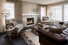 Decorating With Leather Furniture Living Room Beautiful Brown Leather Furniture Decorating Images
