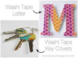 we read diy washi tape letter and key covers