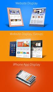 website u0026 iphone 5 3d display mockups vol 1 psd graphicsfuel