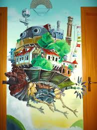 howl s moving castle murale by wormholepaintings on deviantart wormholepaintings howl s moving castle murale by wormholepaintings
