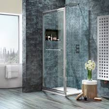 Infold Shower Doors Harbour I8 Easy Clean Infold 8mm Shower Door Optional Side Panel