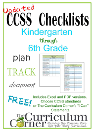 updated common core checklists the curriculum corner 123