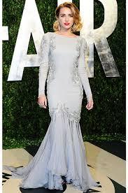Vanity Fair Wedding Miley Cyrus 2012 Vanity Fair Oscar Party Long Sleeve Mermaid