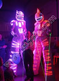 Glow Halloween Costume Cs0086 Led Robot Suit Led Dance Costume Luminous Costume