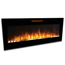 elite flame 60 inch fusion pebbles built in smokeless wall mounted