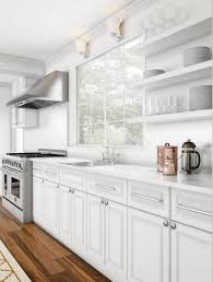 white contemporary kitchen cabinets gloss modern glossy white kitchen home the home depot