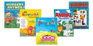 children colouring books pack 5