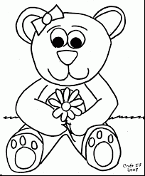 extraordinary teddy bear coloring pages with teddy bear coloring