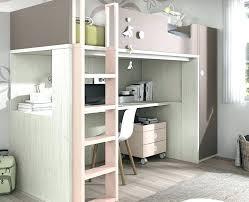 bureau surélevé lit superposac avec bureau lit sureleve avec bureau chambre ado