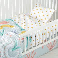 Portable Crib Bedding Blankets Swaddlings Mermaid Crib Set Mermaid
