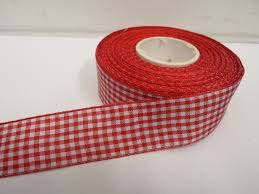 gingham ribbon metres or roll x 25mm gingham ribbon sided check uk