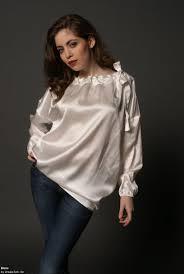 plus size silk blouse white satin silk plus size blouse plus size satin 1