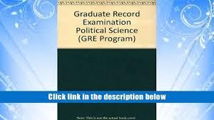 download epub graduate record examination political science gre